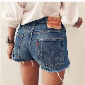 Levi's wedgie fit high rise shorts